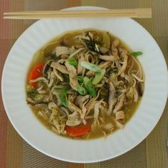 Chicken Vegetable Udon Soup {Good Luck ReDux}