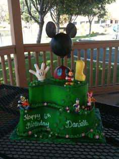 #162 2 tier Mickey cake at delriocakes.biz