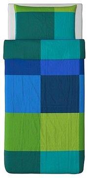 BRUNKRISSLA Duvet cover and pillowcase(s) - modern - duvet covers - IKEA