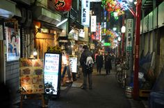 "AT Backstreet in #Japan. So many "" #Izakaya "" is standing along the backstreet.日本,居酒屋"