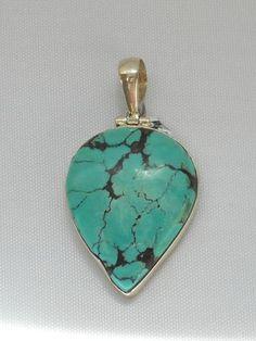 Tibetan Turquoise Pendant 2 - Andrea Jaye Collection