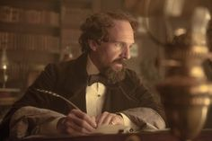 """The actor/director reflects on his current role as Charles Dickens in """"The Invisible Woman,"""" reuniting with Kristin Scott Thomas, his groundbreaking turn in. Ralph Fiennes, Mike Newell, Kristin Scott Thomas, Invisible Woman, Period Dramas, Picture Photo, I Movie, Women, Cinema Cinema"""
