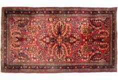 """Antique Persian Sarouk, 4'1"""" x 2'2"""""""