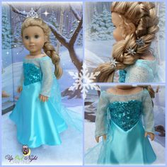 Snow Queen Dress Fits Your American Girl or by upowlnightcrafting, $60.00