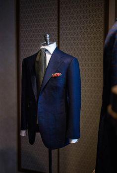 http://chicerman.com  bntailor:  Blue Flannel  #MENSUIT #TAILORSUIT