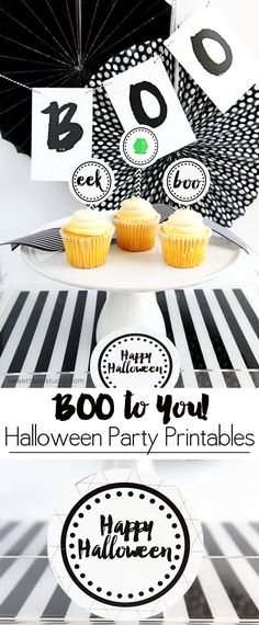 FREE Boo to You Halloween Party Printables at Sweet Rose Studio