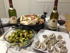 Oh lala Our wine paired with crab, oysters, and brussel sprouts.