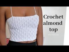 Crochet Summer Tops, Crochet Halter Tops, Crochet Crop Top, Crochet Blouse, Crochet Beanie Pattern, Crochet Patterns, Crochet Videos, Vintage Crochet, Crochet Clothes