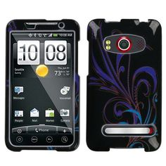Design Hard Protector Skin Cover Cell Phone Case for HTC EVO 4G Sprint - Floral Pattern $0.05