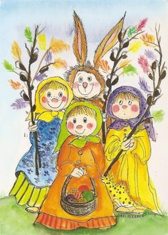 Postcrossing postcard from Finland Fall Projects, Doll Eyes, Winter Art, Whimsical Art, Cute Illustration, Rock Art, Art For Kids, Cute Pictures, Doodles