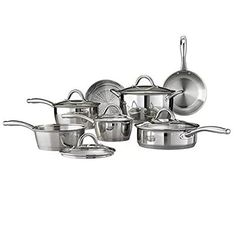Tramontina 12-Piece Gourmet Tri-Ply Base Cookware Set, Stainless Steel * Find out more about the great product at the image link. (This is an affiliate link) #HomeDecor