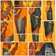 Dyptich icon, byz-art by anda tzara, e-mail tonikart.studio@ gmail.com Byzantine, Studio, Painting, Art, Art Background, Painting Art, Kunst, Studios, Paintings