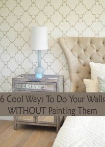 6 Cool ways to do your walls without painting them.