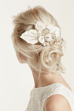 Floral Headpiece with Pearls and Crystals C9048