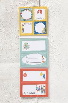 Gift Tag Sticker Book | Pinned by topista.com