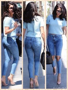 Selena Gomez Outfit Through The Years - Nona Gaya Mode Outfits, Fashion Outfits, Womens Fashion, Traje Casual, Selena Gomez Style, Selena Gomez 2019, Selena Gomez Hair, Celebrity Casual Outfits, Casual Styles