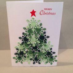 Handmade card, Designs by Judy Talley, Christmas. Martha Stewart Snowflake punch.