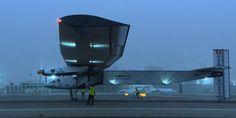 Solar Impulse 2 on the runway at Al Bateen Executive Airport in Abu Dhabi.