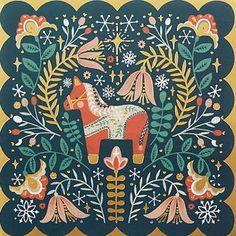 print & pattern: XMAS 2017 - john lewis Illustration Noel, Christmas Illustration, Illustrations, Scandinavian Pattern, Scandinavian Folk Art, Christmas Design, Christmas Art, Pattern Art, Print Patterns
