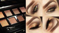 Tutorial – maquiagem de pele (contorno e iluminador) e olhos com Palette Divina da Eudora