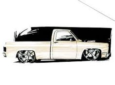 58 Best C10 Drawing images in 2017 | Truck art, Pickup