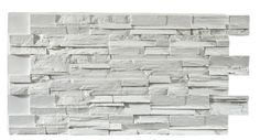 Texture Plus Panels - Stacked Stone Dry Stack Select - White - Interlock