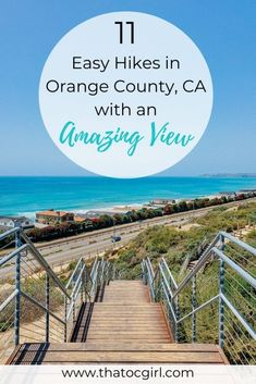 This post shares 11 of the best easy hikes in Orange County, California that have a beautiful view. Most of them are ocean-view hikes but there are also a couple with beautiful land scenery. California Travel Guide, California Vacation, California Destinations, Travel Destinations, Orange County California, California Dreamin', Orange County Hikes, Orange County Parks, Laguna Beach