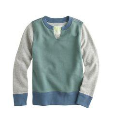 Boys' colorblock sweatshirt