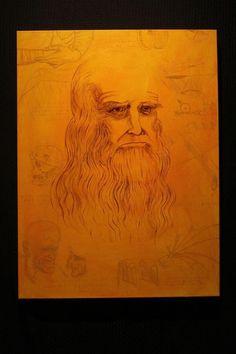 Leonardo DaVinci Painting by Santiago II. For sale: $345