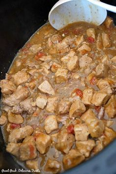 Crock Pot Boneless Pork and Rice is an easy slow cooker pork recipe that is super flavorful and delicious. Crock Pot Slow Cooker, Slow Cooker Chicken, Slow Cooker Recipes, Crockpot Recipes, Boneless Pork Ribs, Pork Chop Recipes, Mexican Food Recipes, Rice, Stuffed Peppers