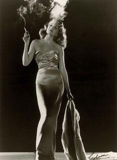 Classic photo of Rita Hayworth as Gilda, 1946