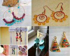 Online Jewelry Making Newsletter: DIY Inexpensive Christmas Earrings