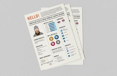 How To Stand Out - Creative Curriculum Vitae. There are so many creative designers out there. Ukrainian graphic designer and illustrator Anton Yermolov Graphic Design Resume, Cv Design, Resume Template Free, Creative Resume Templates, Templates Free, Simple Resume Examples, Resume Ideas, Cv Ideas, Cv Examples