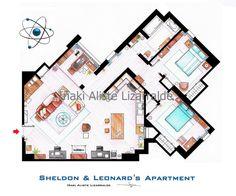 "Sheldon and Leonard's apartment from ""TBBT"" - BIG"