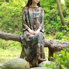 2016 summer dress for women imitation silk vintage women long dress pullover maxi dress vetement femme vestidos largos de verano -- Check this awesome product by going to the link at the image.