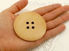 10pcs-Extra-Large-4-eyed-Wooden-Button-Sewing-60mm
