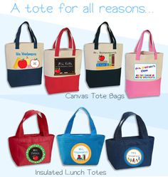 Our EXCLUSIVE Teacher Totes make a thoughtful and useful gift.