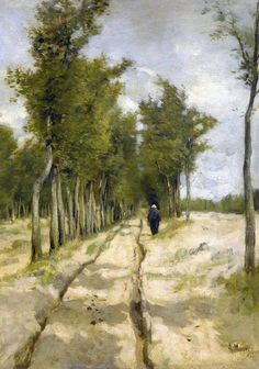 1838 – Anton Mauve, Dutch painter (d. 1888) | Anton Mauve (Dutch painter) 1838 - 1888 De Torenlaan ... | Real Fine ...