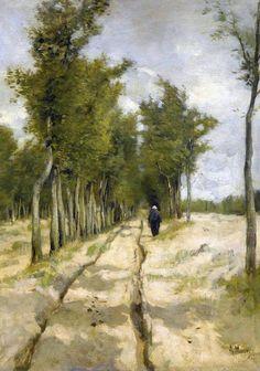 1838 – Anton Mauve, Dutch painter (d. 1888) | Anton Mauve (Dutch painter) 1838 - 1888 De Torenlaan ... | Real Fine ...