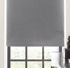 RH's Blackout Roller Shade:This flat-weave addition to your windows blocks light and provides privacy, all while preserving a minimalist appeal. Available in five exclusive colors. May also be layered under our coordinating Roman shades and drapery. Window Coverings, Window Treatments, Restoration Hardware Bedroom, Window Blocks, Blackout Shades, Custom Shades, Loft Interiors, Kids Curtains, Bedroom Decor