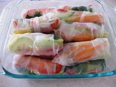 Vegetarian Spring Rolls with Mango #vegetarian #recipe