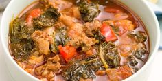 Spicy Turkey Sausage and Kale Chili-Delish Sausage Recipes, Chili Recipes, Soup Recipes, Dinner Recipes, Cooking Recipes, Recipies, Dinner Ideas, Kale Recipes, Easy Cooking
