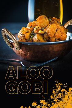 Aloo Gobi is a glorious potato and cauliflower curry and originally from the the Punjab mine comes with a fab surprise crispy element in the shape of fried mung beans. via Krumpli Gobi Recipes, Indian Food Recipes, Asian Recipes, Beef Recipes, Vegetarian Recipes, Oriental Recipes, Spicy Recipes, Yummy Recipes, Indian Recipes