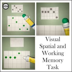 To use this free visual spatial and working memory task print out pages Cut apart the cards. To practice visual spatial skills, place one card with dots and one blank board in front of the child. Visual Motor Activities, Visual Perceptual Activities, Cognitive Activities, Activities For Adults, Therapy Activities, Sensory Activities, Children Activities, Therapy Ideas, Pediatric Occupational Therapy