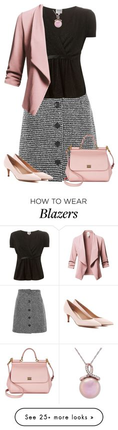 """10.02.18"" by alpate on Polyvore featuring Topshop, Armani Collezioni, Dolce&Gabbana, Gianvito Rossi and Honora"