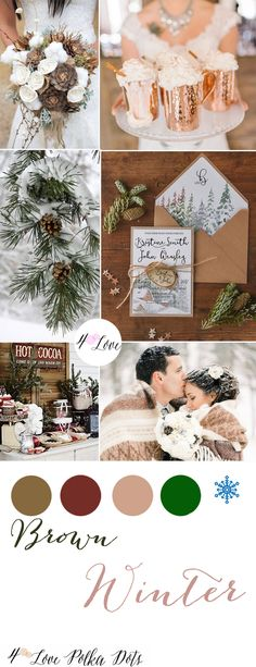 Brown Winter Wedding Inspiration Oh Winter, how could you be so beautiful yet painfully cold?