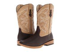 Roper - Square Toe Cowboy Boot (Brown) Cowboy Boots