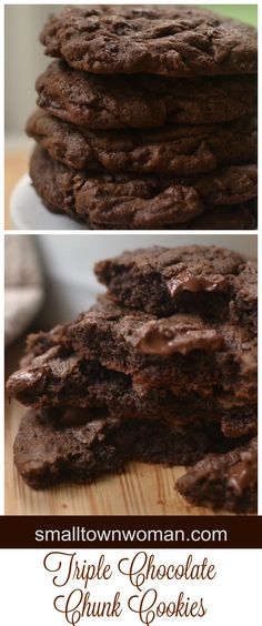 I LOVE chocolate!  I mean really who the heck doesn't.  These marvelous Triple Chocolate Chunk Cookies are sure to tantalize the chocolate lover in you!