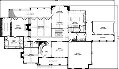 Newberry park allison ramsey architects inc southern for Southern living house plans with keeping rooms