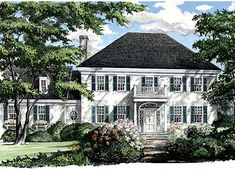 Southern Living Home Ideas | ... W32444WP: Corner Lot, Southern, Colonial House Plans & Home Designs